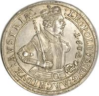obverse of 1 Speciestaler - Leopold - Hall mint (1626 - 1632) coin with KM# 629 from Austria.