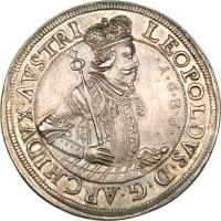 obverse of 2 Speciestaler - Leopold I - Hall mint (1625 - 1626) coin with KM# 609 from Austria.