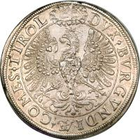 reverse of 2 Speciestaler - Leopold I - Hall mint (1625 - 1626) coin with KM# 609 from Austria.