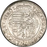 reverse of 1 Speciestaler - Maximilian - Hall mint (1618) coin with KM# 227 from Austria.
