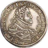 obverse of 1 Speciestaler - Rudolf II - Hall mint (1610) coin with KM# 121 from Austria.
