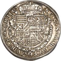reverse of 1 Speciestaler - Rudolf II - Hall mint (1610) coin with KM# 121 from Austria.