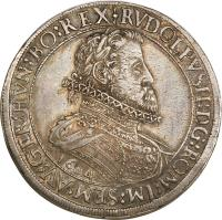 obverse of 2 Speciestaler - Rudolf II - Hall mint (1604) coin with KM# 57 from Austria.