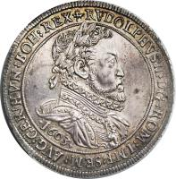 obverse of 1 Speciestaler - Rudolf II - Hall mint (1602 - 1612) coin with KM# 37 from Austria.