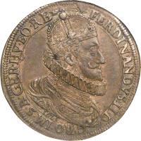 obverse of 1 Speciestaler - Ferdinand II - Klagenfurt mint (1621) coin with KM# 340 from Austria.