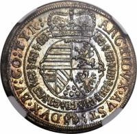 reverse of 1/10 Thaler - Leopold I - Hall mint (1667) coin with KM# 1248 from Austria.