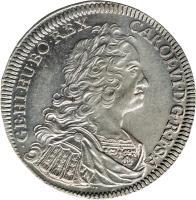 obverse of 1 Speciestaler - Karl VI - Hall mint (1730 - 1738) coin with KM# 1639 from Austria. Inscription: CAROL · VI · D · G · R · I · S · A · GE · HI · HU · BO · REX ·