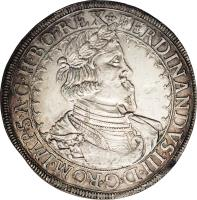 obverse of 1 Taler - Ferdinand III (1641) coin with KM# 895 from Austria.
