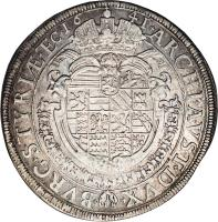 reverse of 1 Taler - Ferdinand III (1641) coin with KM# 895 from Austria.