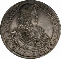 obverse of 1 Taler - Sigismund Franz - Hall mint (1665) coin with KM# 1239 from Austria.