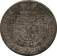 reverse of 1 Taler - Sigismund Franz - Hall mint (1665) coin with KM# 1239 from Austria.