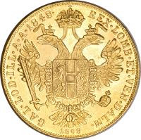 reverse of 1 Ducat - Franz Joseph I - Golden Jubilee (1898) coin with KM# 2268 from Austria.