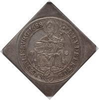 reverse of 1/6 Thaler - Johann Ernst (1687 - 1688) coin with KM# 251 from Austrian States. Inscription: S:RVDBERTUS. EPS:SALISBVRG:1688 1/6
