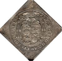 obverse of 1/6 Thaler - Maximilian Gandolph (1669 - 1679) coin with KM# 215 from Austrian States. Inscription: MAX:GAND:D:G:AR:EPS:SAL:SE:AP:L