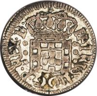 obverse of 20 Réis - Pedro II (1700 - 1702) coin with KM# 85 from Brazil.
