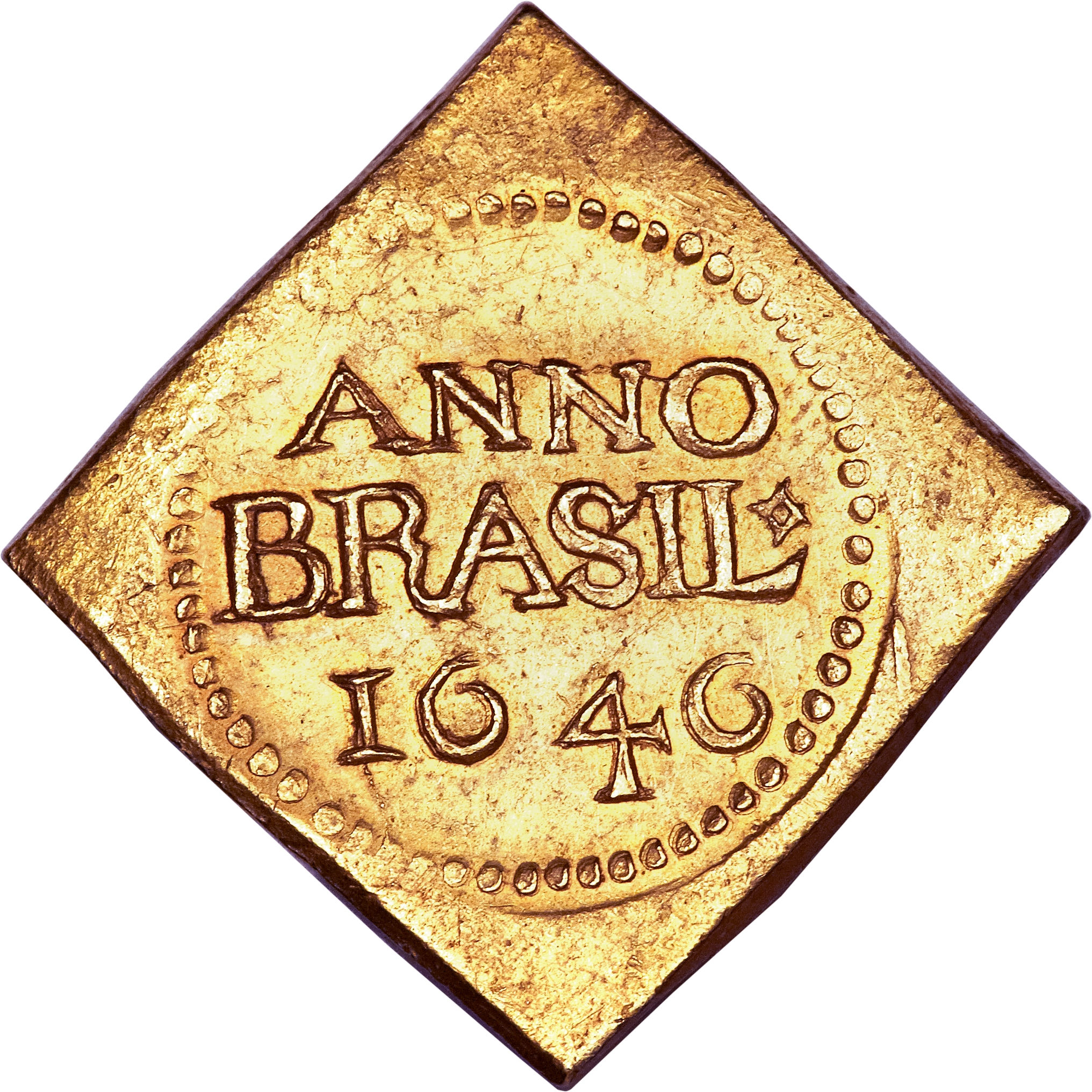 reverse of 12 Florins (1645 - 1646) coin with KM# 7 from Brazil