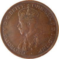obverse of 1/12 Shilling - George V (1911 - 1923) coin with KM# 12 from Jersey. Inscription: · GEORGIVS V D.G.BRITT: OMN:REX F.D.IND:IMP: