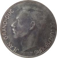 obverse of 10 Francs - Jean I (1971 - 1980) coin with KM# 57 from Luxembourg. Inscription: JEAN GRAND-DUC DE LUXEMBOURG J.N. LEFEVRE