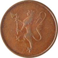 obverse of 5 Øre - Olav V (1973 - 1982) coin with KM# 415 from Norway.