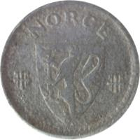 obverse of 10 Øre - Haakon VII - WW2 German Occupation (1941 - 1945) coin with KM# 389 from Norway. Inscription: NORGE