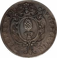 obverse of 1 Thaler - Ferdinand II (1626) coin with KM# 41 from German States. Inscription: 1626 DELICORVM AVGVSTA.VIN