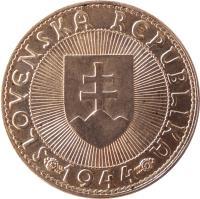 obverse of 10 Korún - Prince Pribina (1944) coin with KM# 9 from Slovakia. Inscription: SLOVENSKÁ REPUBLIKA 1944