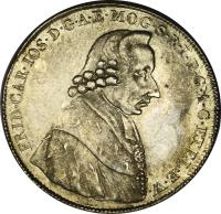obverse of 1/2 Conventionsthaler - Friedrich Karl Josef (1795) coin with KM# 408 from German States.