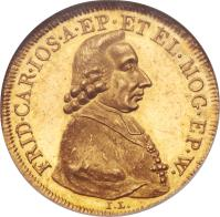 obverse of 1 Ducat - Friedrich Karl Josef - Trade Coinage (1795) coin with KM# 410 from German States.