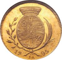 reverse of 1 Ducat - Friedrich Karl Josef - Trade Coinage (1795) coin with KM# 410 from German States.