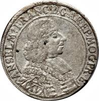 obverse of 15 Kreuzer - Anselm Franz (1689 - 1691) coin with KM# 195 from German States.
