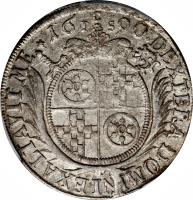 reverse of 15 Kreuzer - Anselm Franz (1689 - 1691) coin with KM# 195 from German States.