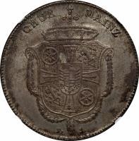 obverse of 1 Thaler - Friedrich Karl Josef (1794) coin with KM# 400 from German States. Inscription: CHVR MAINZ