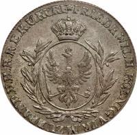 obverse of 2/3 Reichsthaler - Friedrich Wilhelm II (1796 - 1801) coin with KM# 363 from German States.
