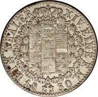 reverse of 1 Reichsthaler - Friedrich Wilhelm III (1823 - 1826) coin with KM# 413 from German States. Inscription: EIN THALER XIV. EINE F.M. 1830
