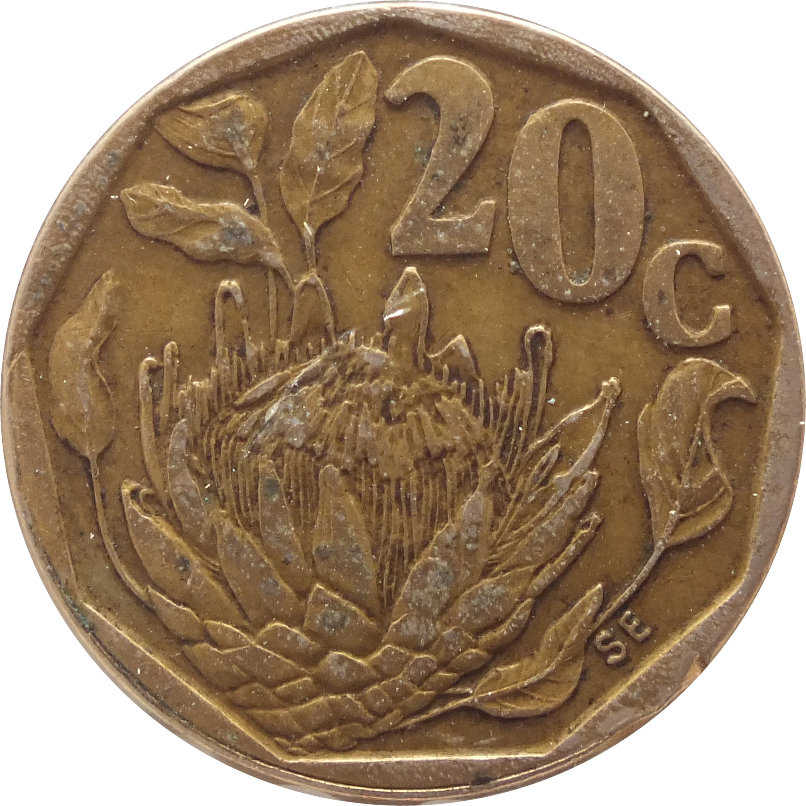 20 Cents South Africa Suid Afrika 1990 1995 South Africa Km 136 Coinsbook