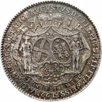 obverse of 1/2 Conventionsthaler - August Philipp - Ascession (1770) coin with KM# 68 from German States.