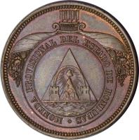 obverse of 4 Pesos (1862) coin with KM# Pn3 from Honduras.