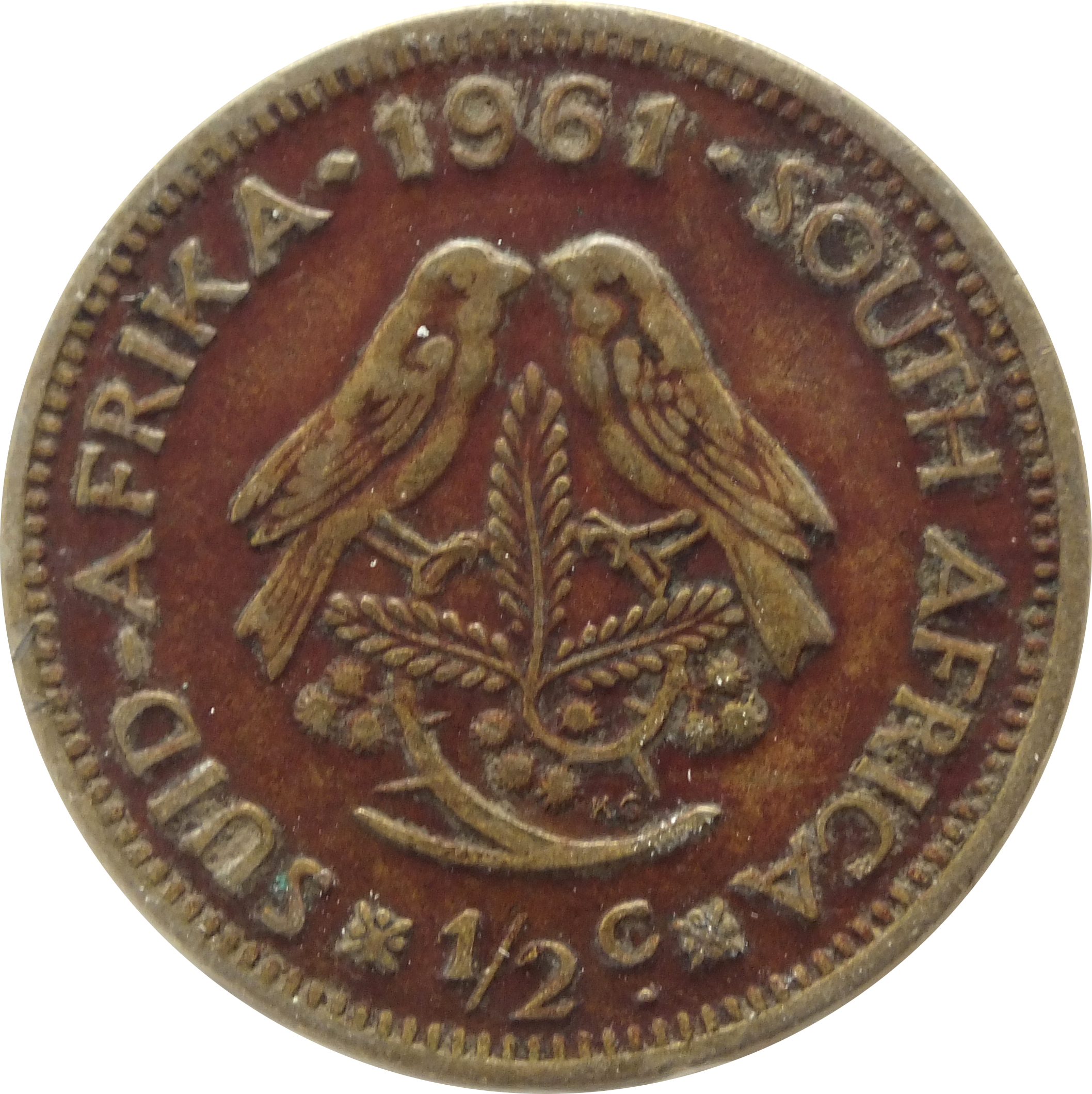 1  2 cent  1961-1964  south africa km  56