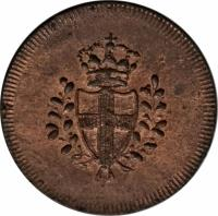 obverse of 4 Denari (1814) coin with KM# 278 from Italian States.