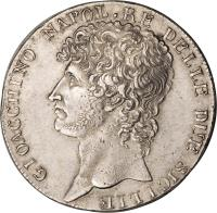 obverse of 12 Carlini - Joachim Murat (1809 - 1810) coin with KM# 250 from Italian States.