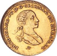 obverse of 2 Ducati - Ferdinando IV (1762) coin with KM# 170 from Italian States.