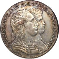obverse of 1 Piastra - Ferdinando IV - Return of Ferdinand IV to Naples (1791) coin with KM# 213 from Italian States.