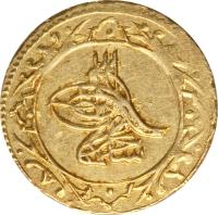 obverse of 1/2 Altin - Selim III (1789 - 1806) coin with KM# 520 from Ottoman Empire.