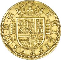 obverse of 4 Escudos - Felipe III (1607 - 1611) coin with KM# 31 from Spain.