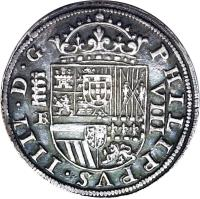 obverse of 8 Reales - Felipe IV (1621 - 1660) coin with KM# 76 from Spain.