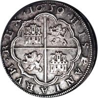 reverse of 8 Reales - Felipe IV (1621 - 1660) coin with KM# 76 from Spain.