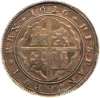 reverse of 50 Reales - Felipe IV (1622 - 1659) coin with KM# 81 from Spain.