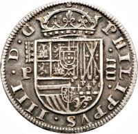 obverse of 4 Reales - Felipe IV (1621 - 1660) coin with KM# 98 from Spain.