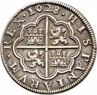 reverse of 4 Reales - Felipe IV (1621 - 1660) coin with KM# 98 from Spain.