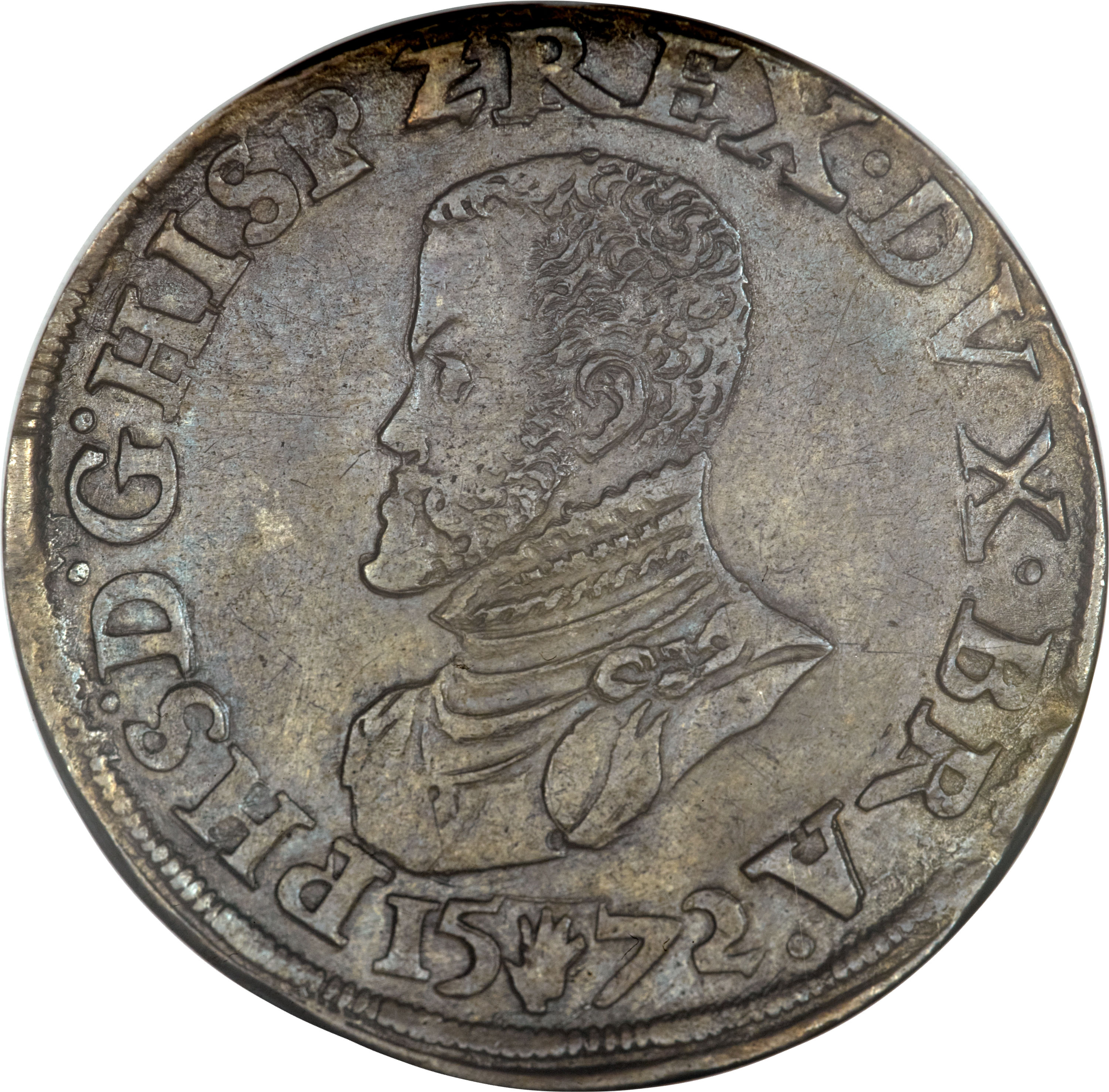 obverse of 1 Ecu - Felipe II (1557 - 1597) coin with GH#